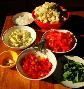 Prepared food for ratatouille