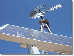 solar panel & wind turbine